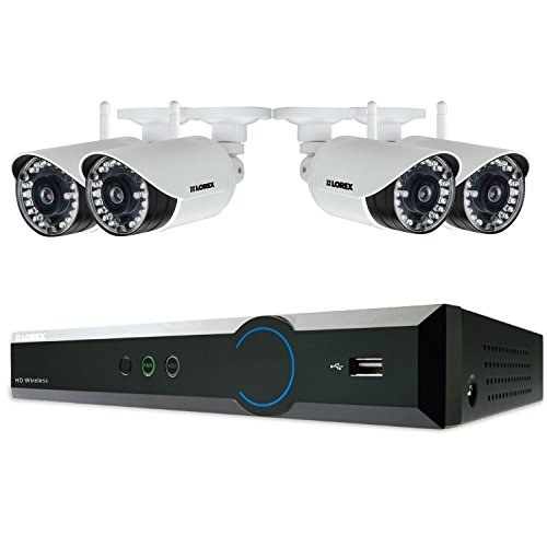 Lorex 4 Channel 720p Surveillance System with 1TB HDD and 4 HD 720p Weatherproof Cameras with 120' Night Vision (Lorex Live Wireless Video)