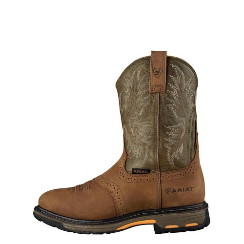Ariat Mens Workhog Pull-on Work Boot Invecchiato Bark
