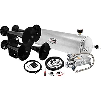 Amazon Com Vixen Horns Loud 149db 4quad Black Trumpet Train Air