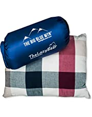 The Big Blue Mtn Compressible Camping Pillow for Lightweight Outdoor Travel Sleep System with Nylon Compact Pouch Bag