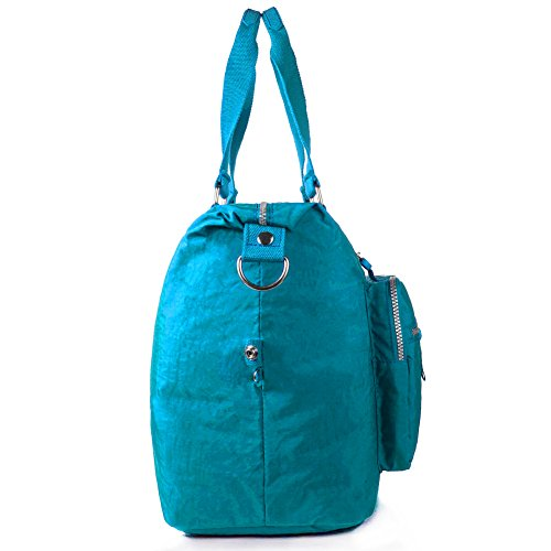 Nylon Turquoise Tote blue Large Bag Weekender 1212 blue Navy 1212 Travel rArwqBa