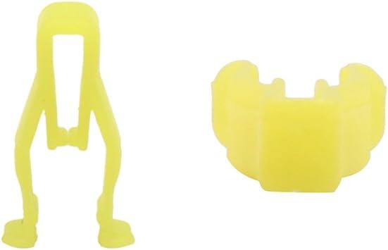 uxcell Plastic Rivets Retainers Car Door Fender Clips Fastener 20PCS Yellow