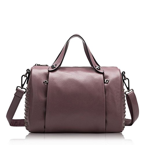 Femminile 3 Della 2 Rivetto Sacchetto Di Messenger Borse Bag Pelle Signora In Mucca Spalla color A8A6rxq