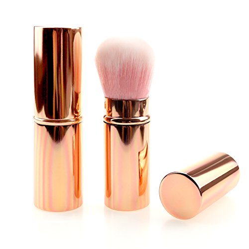 Make up Brush Retractable Rosegold/Gradient/Black/Pink Blush Brushes Soft Mineral Foundation Powder Brushes (rosegold)