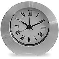 Desk Clock Analog Alarm Clock Handheld Size Silent Sweep (Metal)