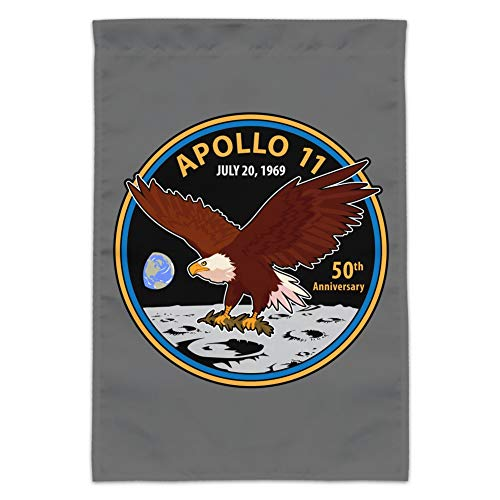 GRAPHICS & MORE NASA Apollo 11 50th Anniversary Patch with Eagle on The Moon Garden Yard Flag (Pole Not - Anniversary Garden