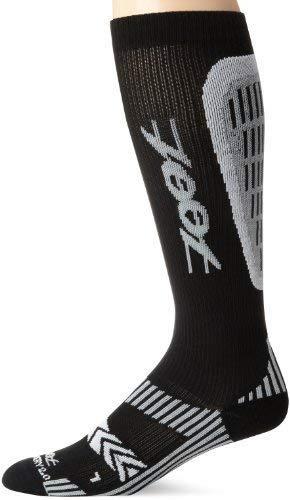 ZOOT SPORTS Men's Ultra Recovery 2.0 CRx Sock, Black/Graphite, 5