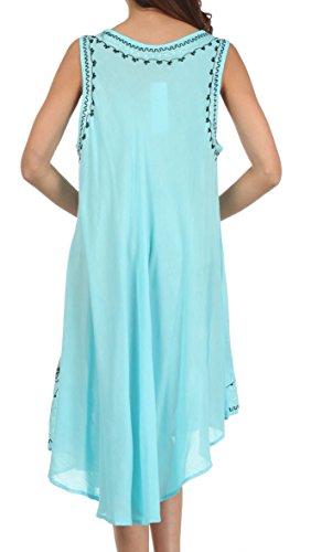 Up Turchese giorno Cover Ogni Dress Sakkas Nero Essentials Caftano Tank g01OwqUFq