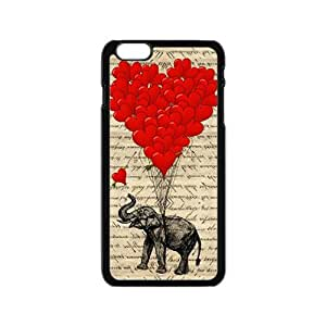GKCB Elephant with Red heart shape balloon Cell Phone Case for Iphone 6