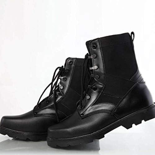 男性のための戦術的なブーツ (色 : 黒, サイズ : 24.5 CM)