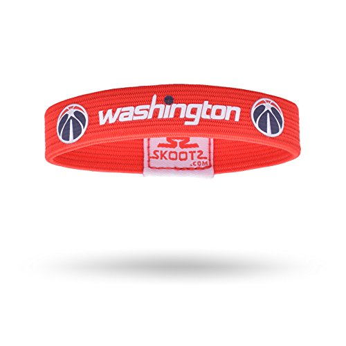 Officially Licensed NBA Wristbands (Small, Washington Wizards) (Wristband Clippers)