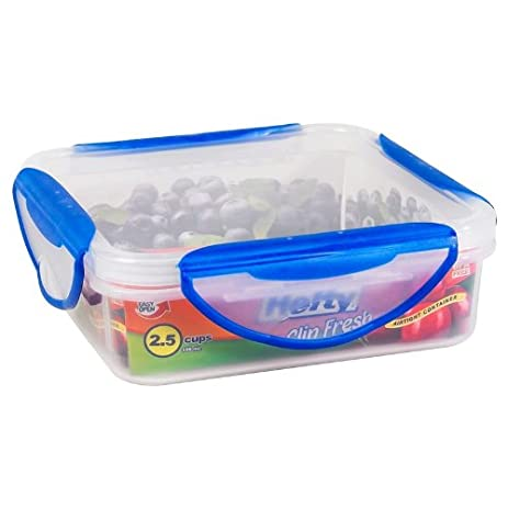 Hefty Clip Fresh Food Storage Container 2.5 Cups Square  sc 1 st  Amazon.com & Amazon.com: Hefty Clip Fresh Food Storage Container 2.5 Cups Square ...