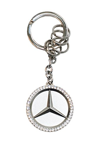 Mercedes Benz Star Key Ring w/Swarovski Crystals (Swarovski Keychain Key Crystal Ring)