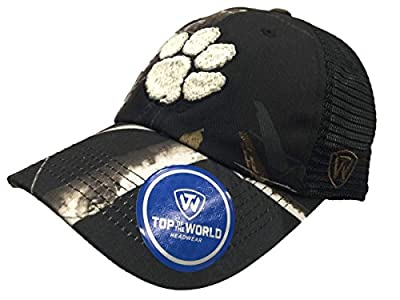 Top of the World Clemson Tigers TOW Black Realtree Camo Harbor Mesh Adjustable Snapback Hat Cap by Top of the World