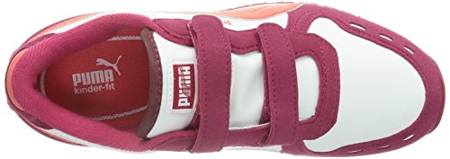Puma Cabana Racer - Zapatillas para niños Cerise/White/Dubarry 29