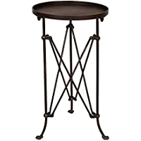 14-1/4 Round x 25H Metal Table, Bronze Finish, KD