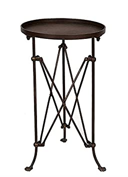 14-1 4 Round x 25 H Metal Table, Bronze Finish, KD