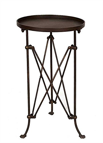 Round Metal Table Bronze Finish