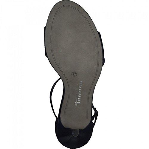 WoMen 28392 Sandals Tamaris Ankle Strap Blue Black OFZnqdR
