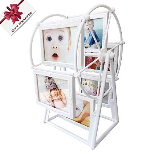 XBEEK Baby Photo Frame with 12 Photos Shows for 5in Photographs ...