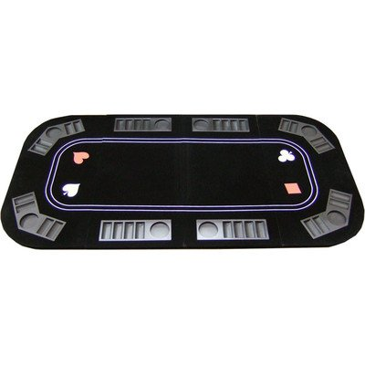 3 in 1 Poker Craps and Roulette Folding Table Top with Cup Holders by JP Commerce