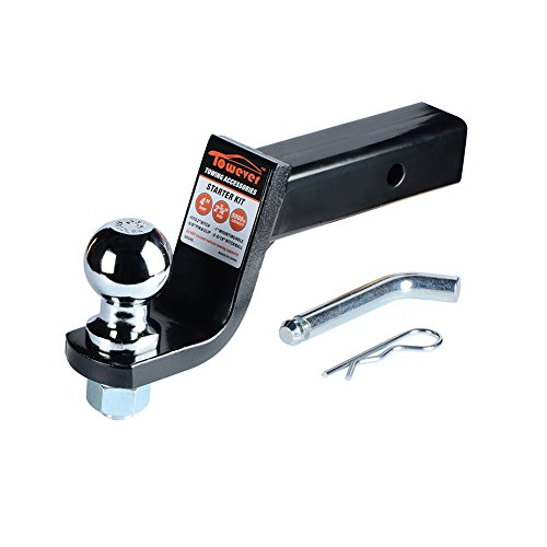 Ball Hitch 4in - Towever 84248 Loaded Ball Mount Class III/IV 4