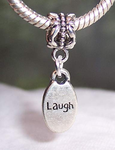 (Pendant Jewelry Making Laugh Inspirational Word Oval Message Humor Dangle Charm for European Bracelets)