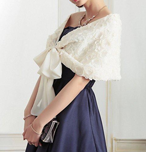 SwirlColor Poids léger de luxe Rose Conception châle mousseline de robe de mariée de soirée de mariage