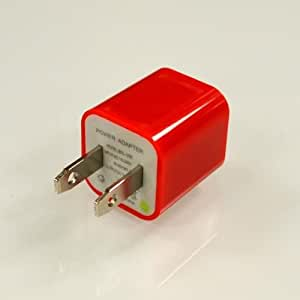 Red Apple iPhone 3/ 4/ 5 USB Input Travel/ Home Wall Charger Adapter