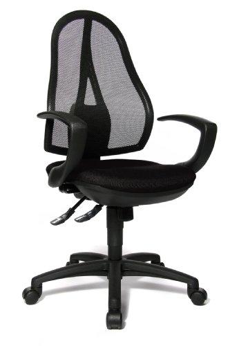 Topstar OP20QG20 Bürodrehstuhl Open Point SY inklusive Armlehnen / Stoffbezug schwarz