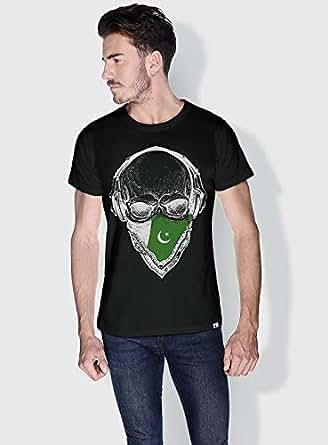 Creo Pakistan Skull T-Shirts For Men - S, Black