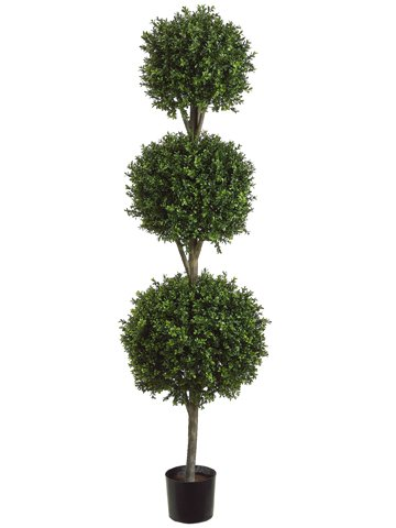 Allstate Floral & Craft Triple Ball Boxwood Topiary Plant, 6-Feet by Allstate Floral & Craft
