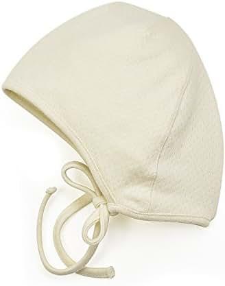 Amoureux Bebe Newborn Baby Cotton Bonnet Hat - Soft Tagless 100% Cotton Pointelle hat.