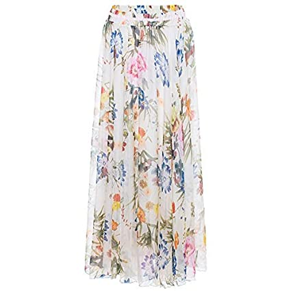 WLG Productos para adultos Falda grande Falda larga bohemia Falda ...