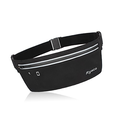 Ryaco [Slim] R902 Running belt, Outdoor Sports Sweatproof Reflective Waist Pack, Fitness Workout Belt, Race Belt, Fanny Pack, Workout Pouch for iPhone 7/7 Plus,6S/6S Plus,5/5S/SE,S7/S7 Edge (Turbo Workout Clothes)