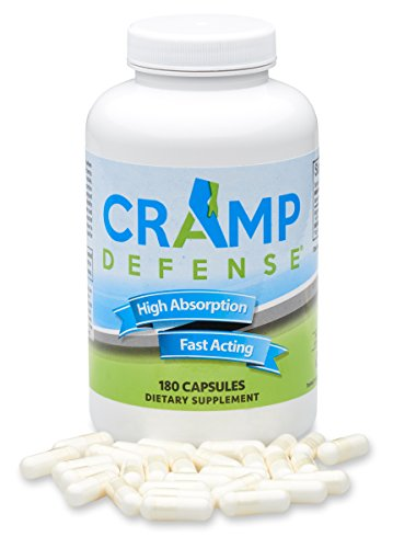 Cramp Defense® with TRUEMAG® - Stop Leg Cramps, Foot Cramps, Muscle Cramps & Muscle Spasms Fast and Permanently. Organic Magnesium, Non-Laxative, NO Magnesium Oxide OR Herbs! Big 180 Capsule Bottle. (Best Magnesium For Muscle Cramps)