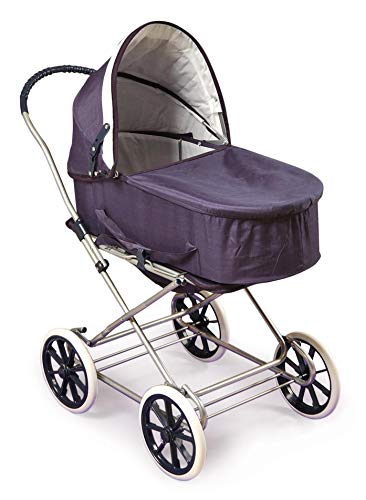 Badger Basket English Style 3-in-1 Doll Pram, Carrier, and Stroller (fits American Girl ()