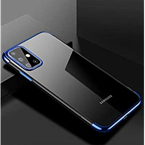 SKIN WORLD Back Cover for Samsung Galaxy M51(Silicone/Blue)
