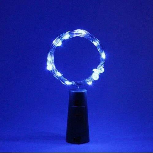 Fio Luz de Fada em Rolha de Garrafa 2 metros - Azul