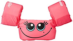 Stearns Puddle Jumper Basic Life Jacket, Pink Smile, 30-50 lbs