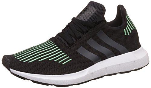 Adidas Mens Swift Run, Nero / Verde / Bianco Nero-verde