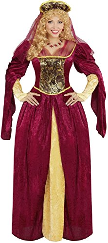 Widmann 05592 royal Queen - adult Fancy Dress Costume, Dress And Hat With Veil
