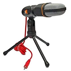 Condenser Microphone with Tripod Stand,3.5MM Omnidirectional Mic for PC, Laptop, Phone,Android Phones, Tablets, Video Recording, Online Chatting