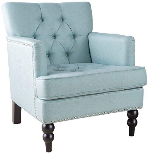 Amazon Com Medford Button Tufted Fabric Club Chair In