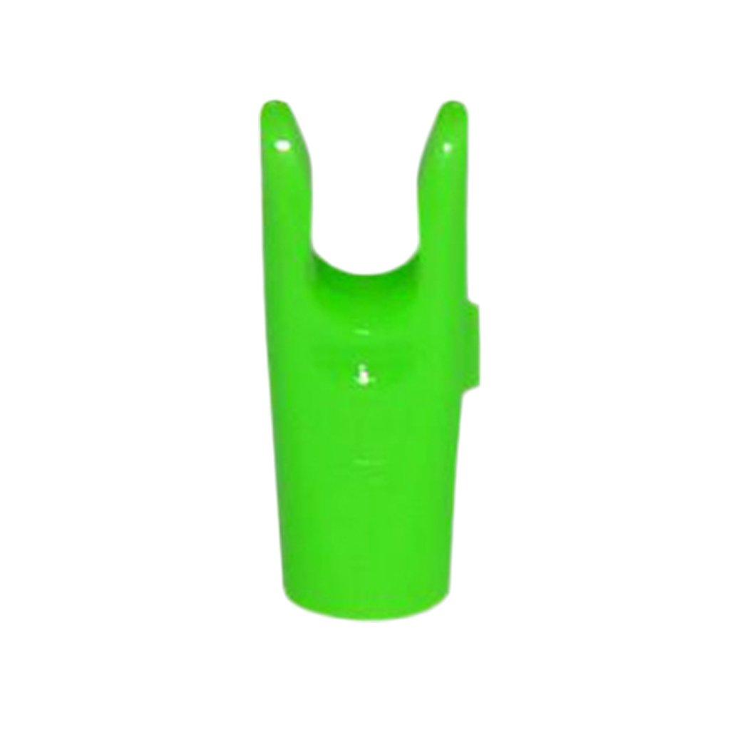 Sharplace Set De 10Pcs Encoches De Fl/èches en Plastique Entailles Vert pour Tir /à Larc Sports Pi/èce