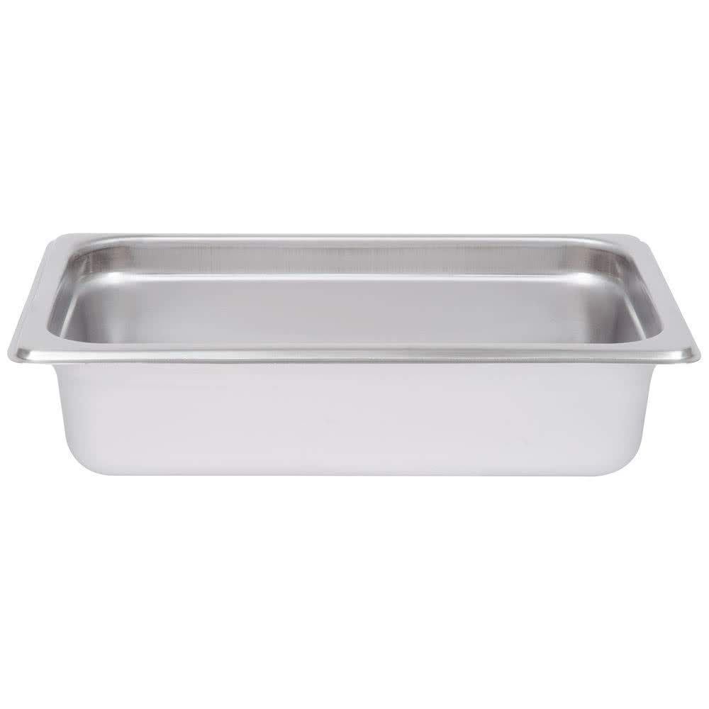 TableTop King 1/4 Size Standard Weight Anti-Jam Stainless Steel Steam Table/Hotel Pan - 2 1/2'' Deep by TableTop King