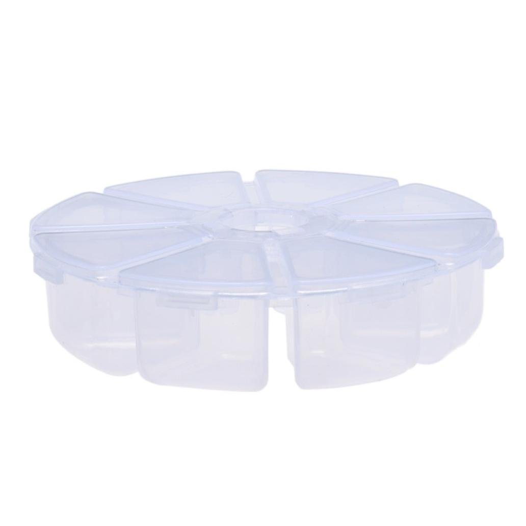 8 Grids Plastic Desktop Storage Box (10.72.7cm(It is manual measurement, there may be, A)