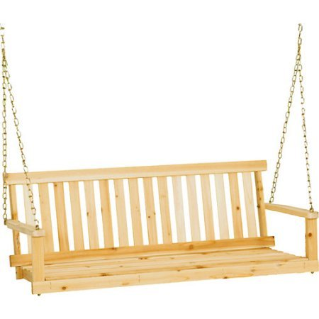 Jack Post H-24 49''W X 21.75''D X 17.5''H Classic Natural Finish Porch Swing by Jack Post