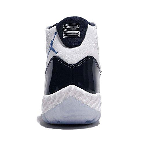 Air Jordan 11 Gewinne wie 82 Weiß / Universität Blau-Mitternacht Marine