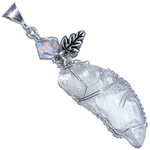 White Kunzite Crystal Pendant - Kunzite White Necklace